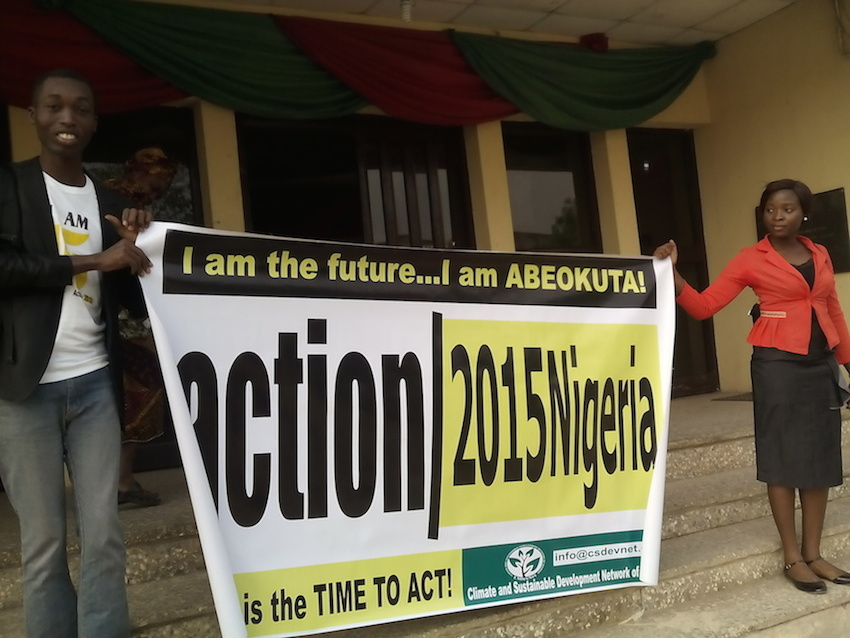 action2015 campaign lunch in Abeokuta, South-West Nigeria