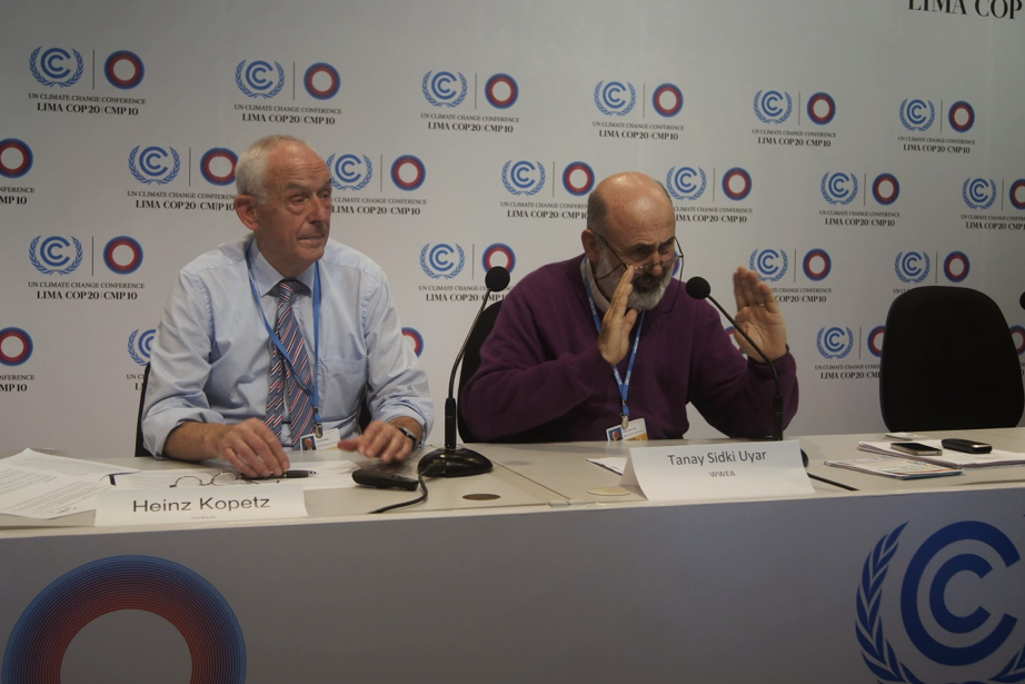 Heinz Kopetz (left) and Prof. Dr. Tanay Sidki at Lima Climate talks