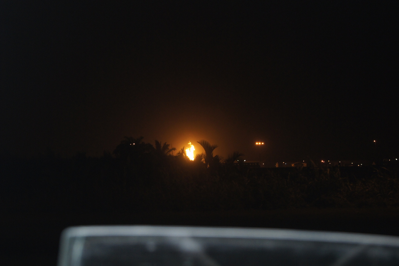 a view of Ibeno community's skyline at night