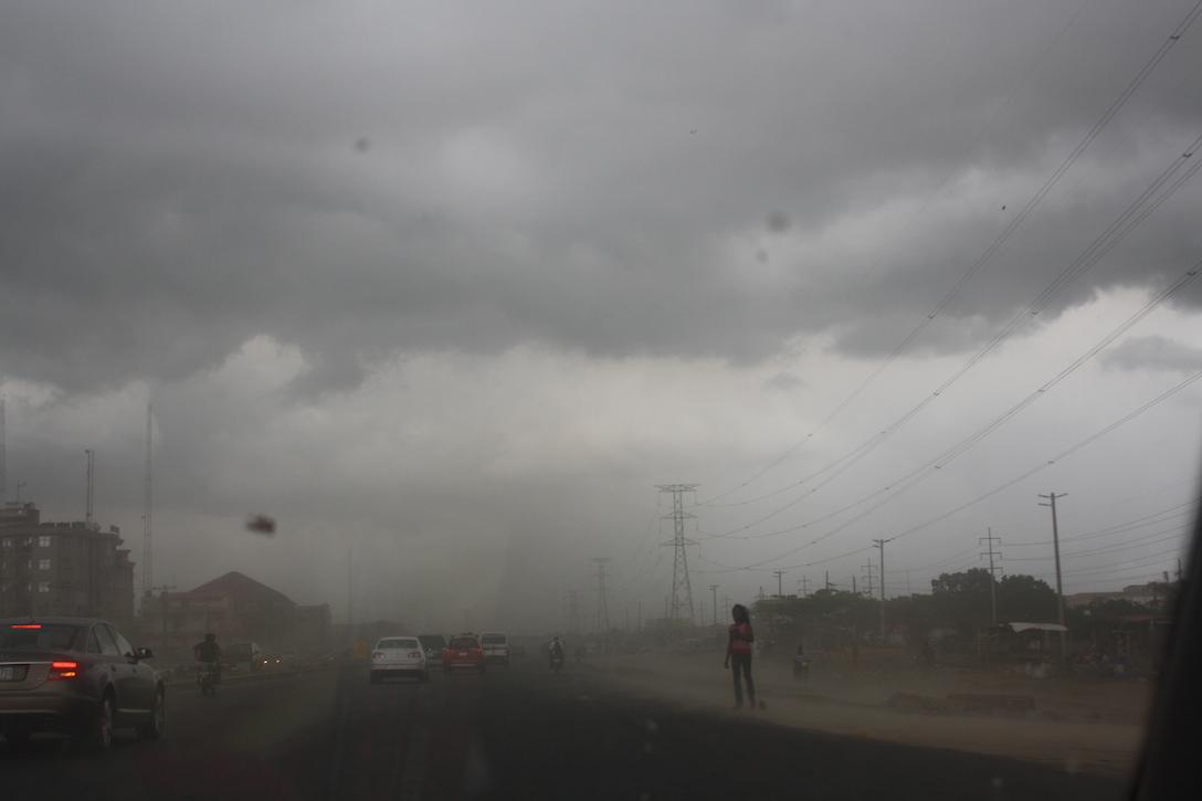 hazy, cloudy weather in Lagos, Nigeria (PHOTO: ClimateReporters/Adeyola Opaluwah