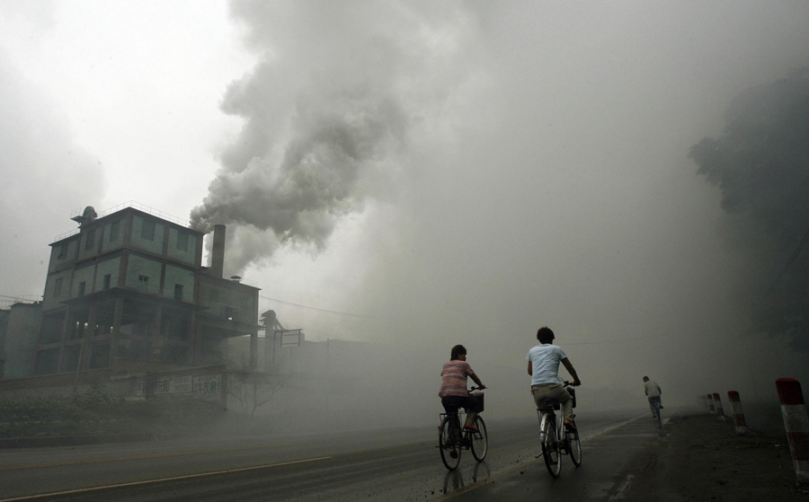Air pollution in China (PHOTO: Texas A&M)