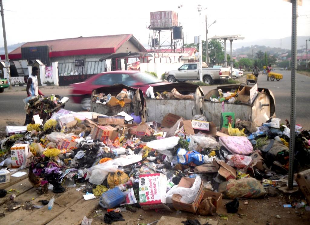 Open waste disposal in Ibadan, Southwest Nigeria