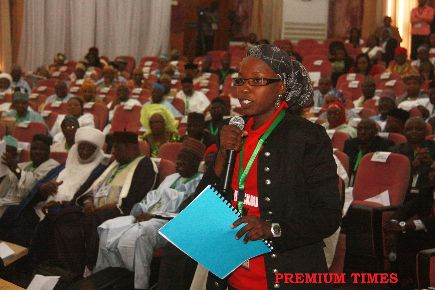 Yadoma Bukar Mandara, Vice Chairperson of the 2014 Conference Committee on Environment (PHOTO: Premium Times)
