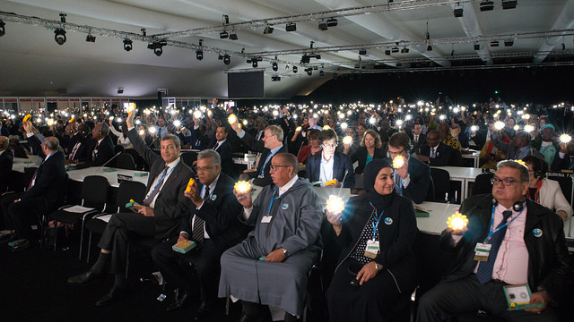 A cross-section of delegates at the COP22 opening ceremony