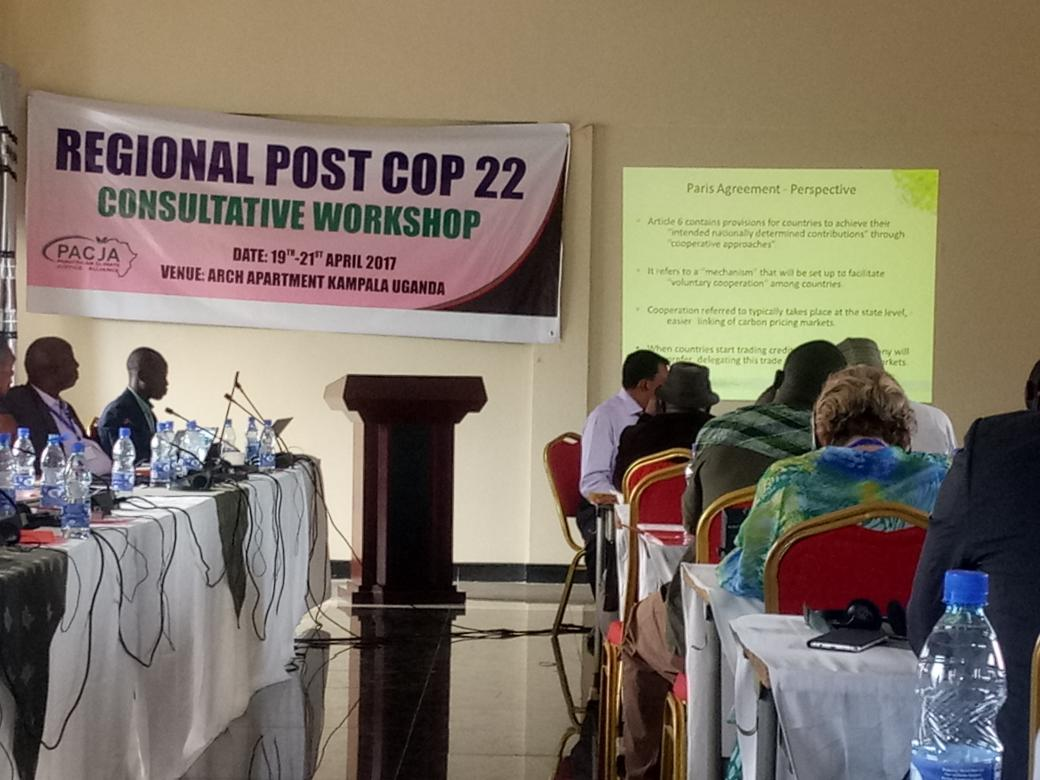 Post-COP22 Regional Consultative Workshop in Uganda (PHOTO: ClimateReporters/Atayi Babs)