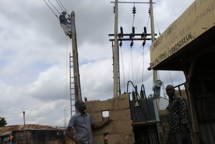 The dysfunctional transformer at Iddo Sarki (PHOTO: Mimiola O)