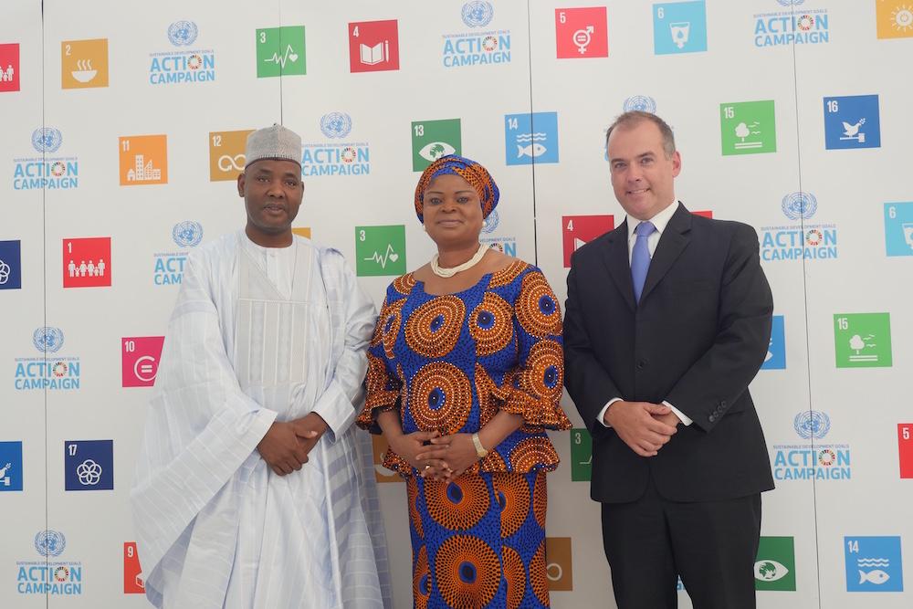 Ms Adejoke Orelope-Adefulire, Nigeria's Presidential Aide on SDGs (Middle)