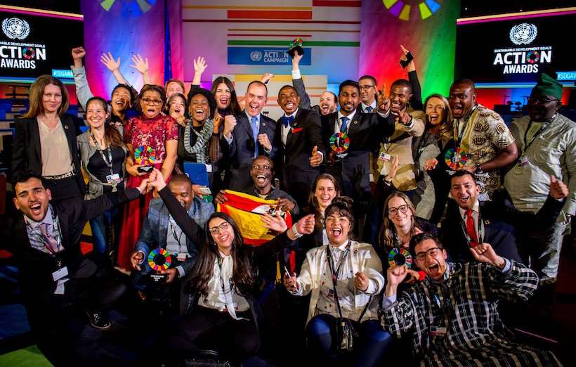 Winners of the first United Nations Sustainable Development Goals Action Awards (PHOTO: UN SDGs)