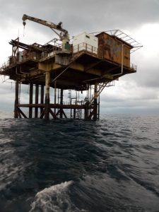 Démantèlement de la plateforme pétrolière de Sèmè Kpodji: le Bénin veut écarter la menace écologique Photo: plateforme pétrolière en piteux état