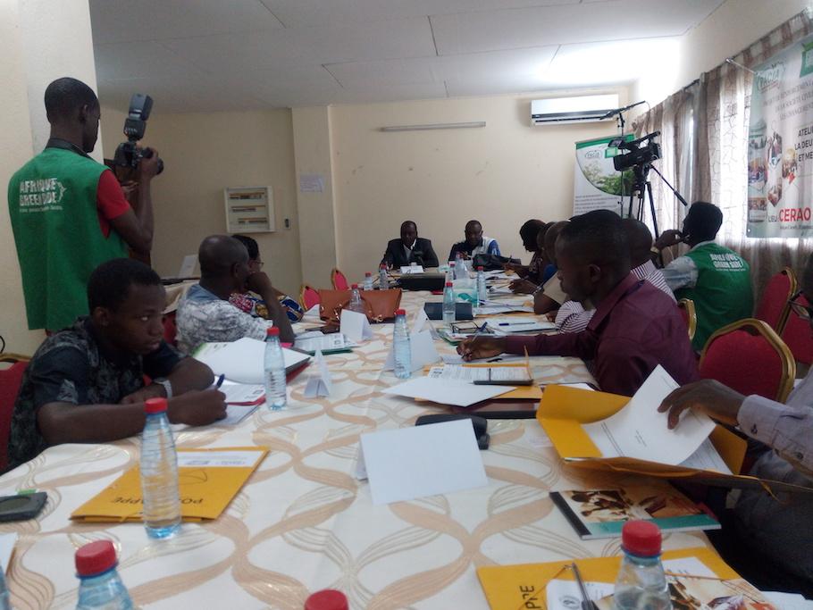 Vue des journalistes en plénière avec les experts de la REDD+, de la SODEFOR et du programme national de lutte contre les Changements Climatiques sur la deuxième phase de la REDD+