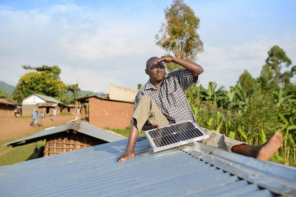 installing solar-panel