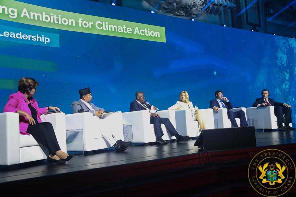 Ghana's President, Nana Addo Dankwa Akufo-Addo speaking at the R20 Austrian World Summit on Climate Change