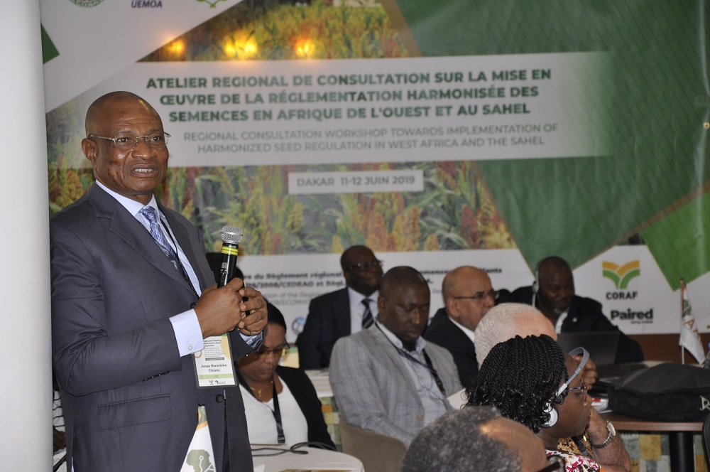 Dr Jonas Chianu AfDB TAAT Task Manager at the workshop (PHOTO: TAAT)